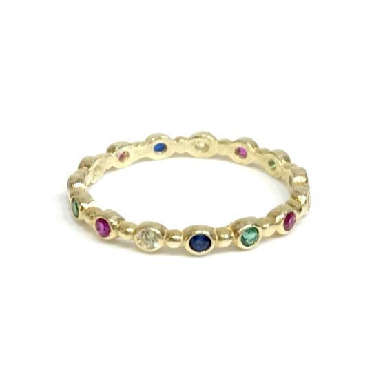 Noelia Rainbow Bubble Ring