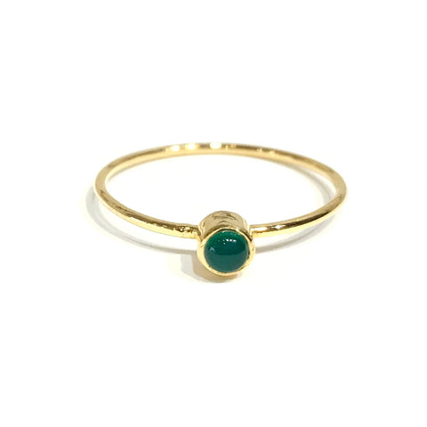 Felice Gemstone Emerald Bezel Ring
