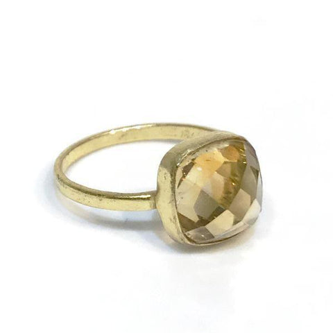 Felice Gemstone Ring Champagne