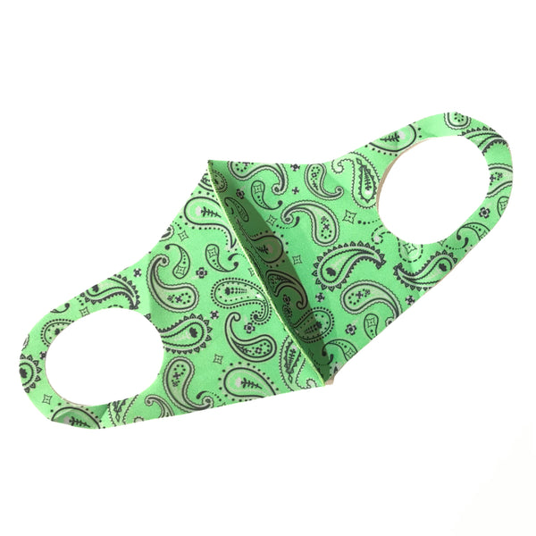 Noellery Strong Adult Unisex Paisley Green Face Mask