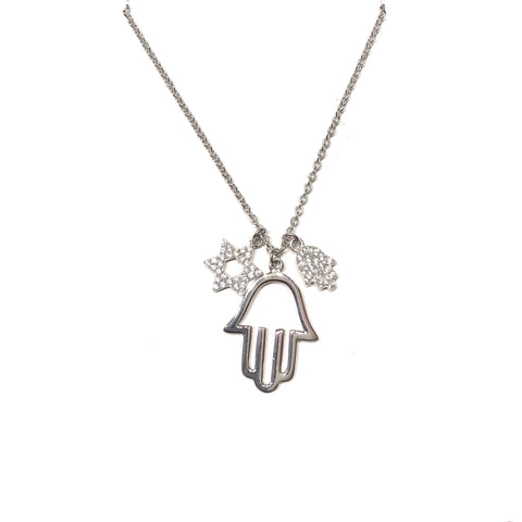 Hamsa Star of David Necklace