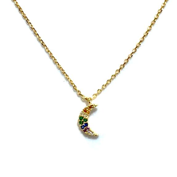 Kory Crescent Moon Multi Necklace