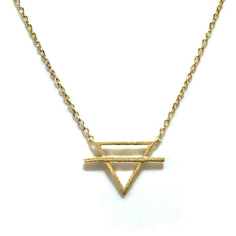 Earth Element Brass Necklace