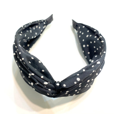 Twisted Polka Dot Wide Headband