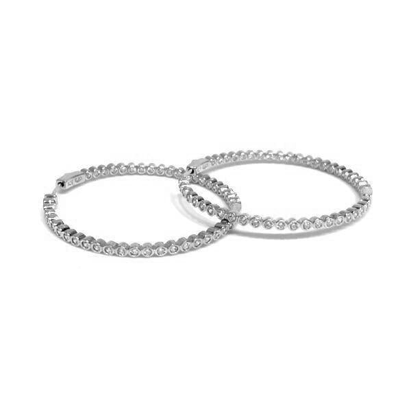 Sparkle French Clasp Med Hoops