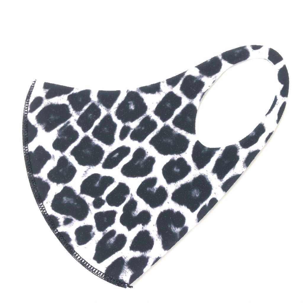 Noellery Strong Adult Unisex White Leopard Face Mask