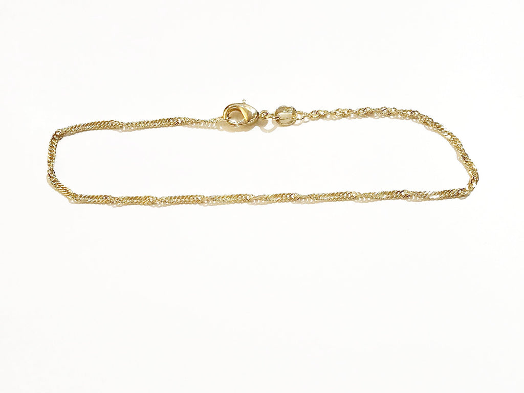 Sterling Silver Thick Twisted Anklet