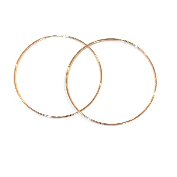 Endless Brass Fashion Hoops