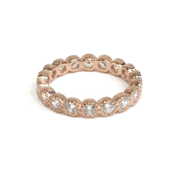 Noelia Chunky Diamond Cut Bezel Ring