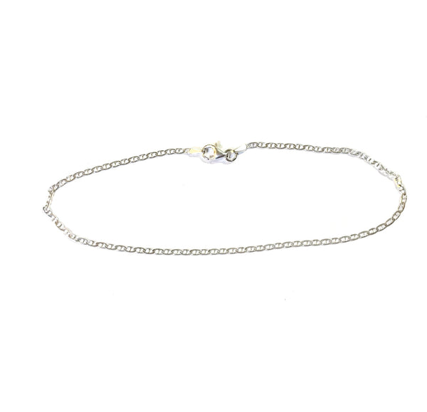 Sterling Silver Cuban Chain Anklet