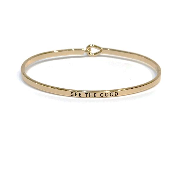 Mantra Bangle 'See The Good'