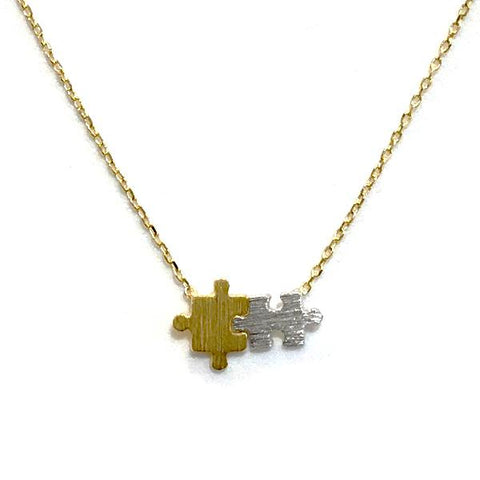 Puzzle Brass Necklace