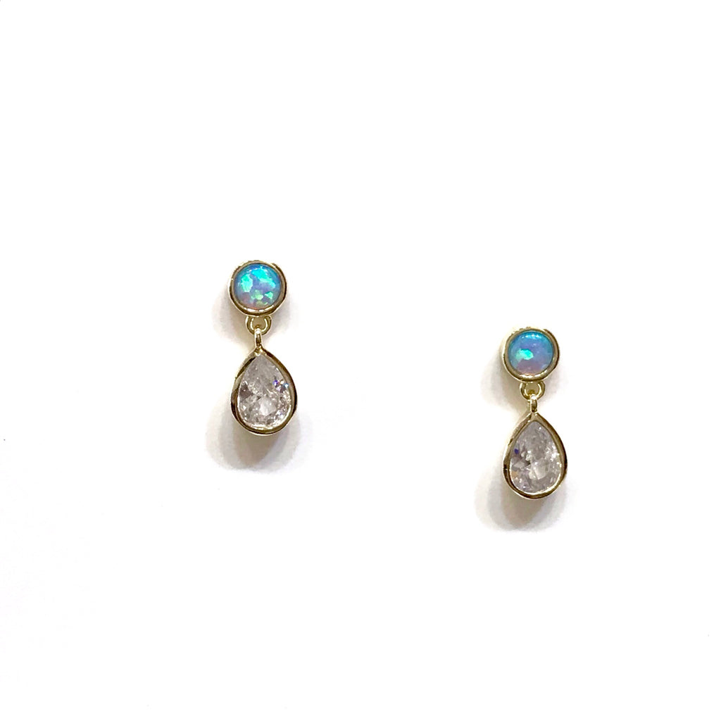 Opaline Teardrop Earrings