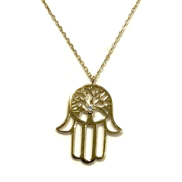 Hamsa Tree of Life Necklace
