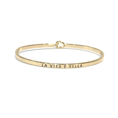 Mantra Bangle 'La Vita E Bella'