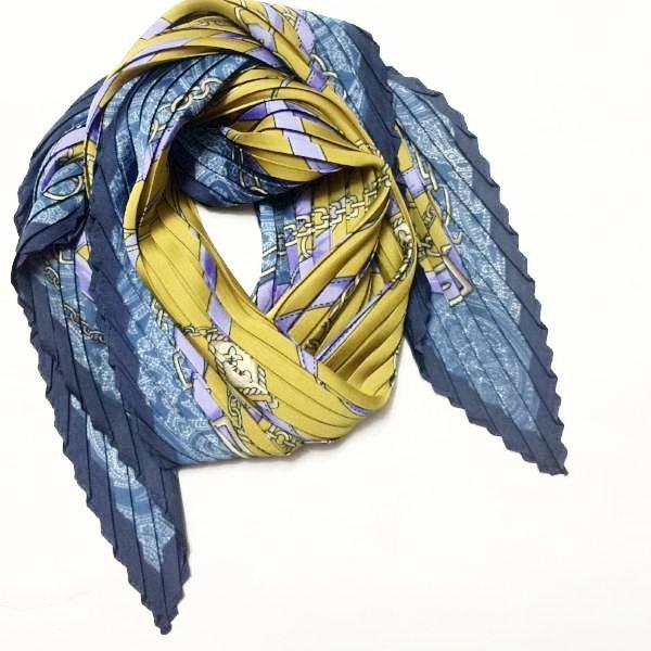 Pleated Scarf- Belt Chain