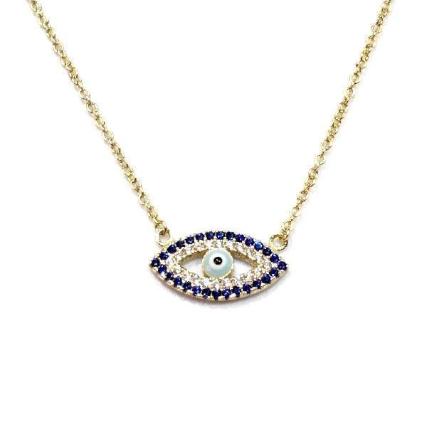 Evil Eye Sapphire Necklace