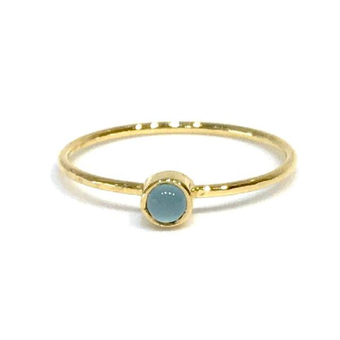 Felice Gemstone Blue Moonstone Bezel Ring