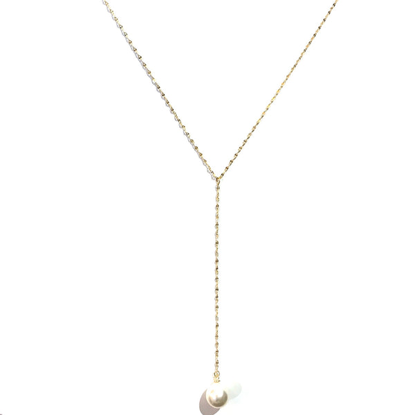 Kory Lariat Pearl Necklace