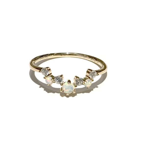 Opaline Cluster Ring