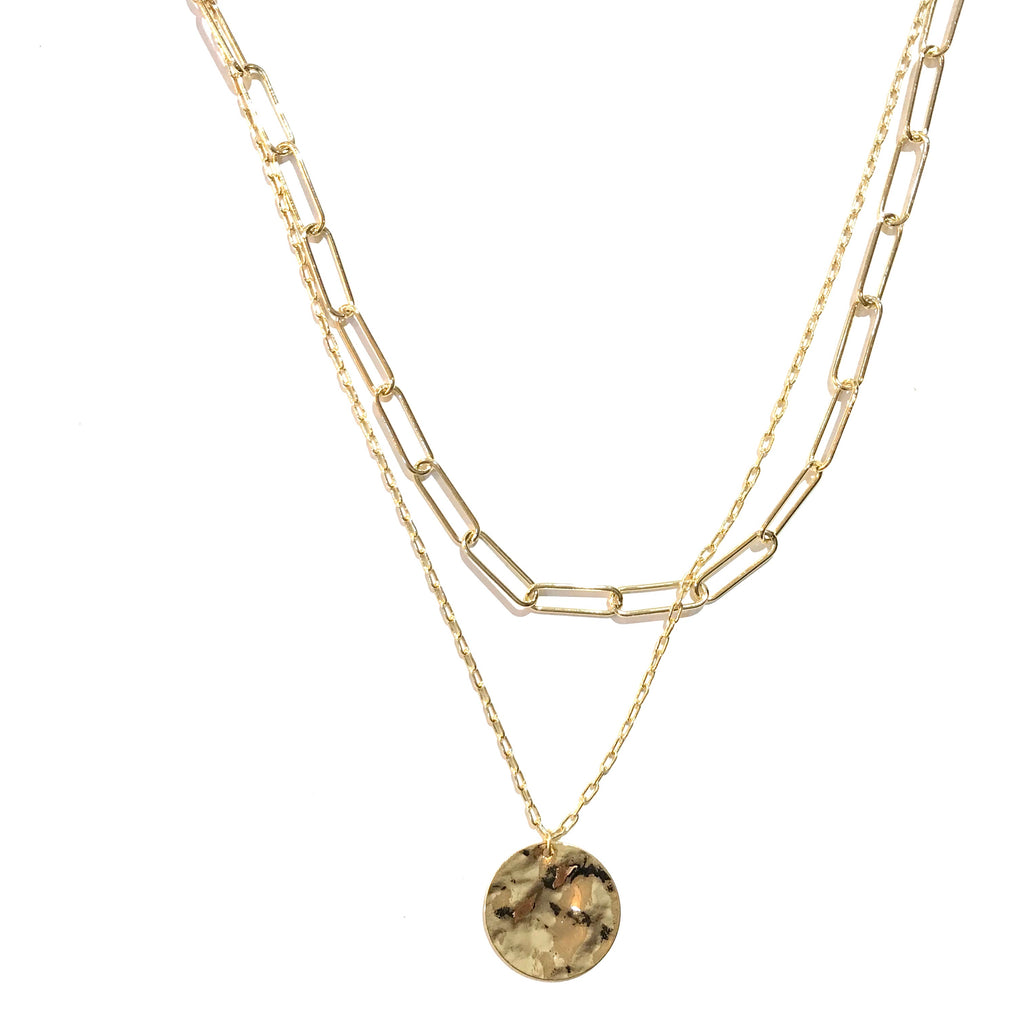 Kory Layered Coin Chain Necklace