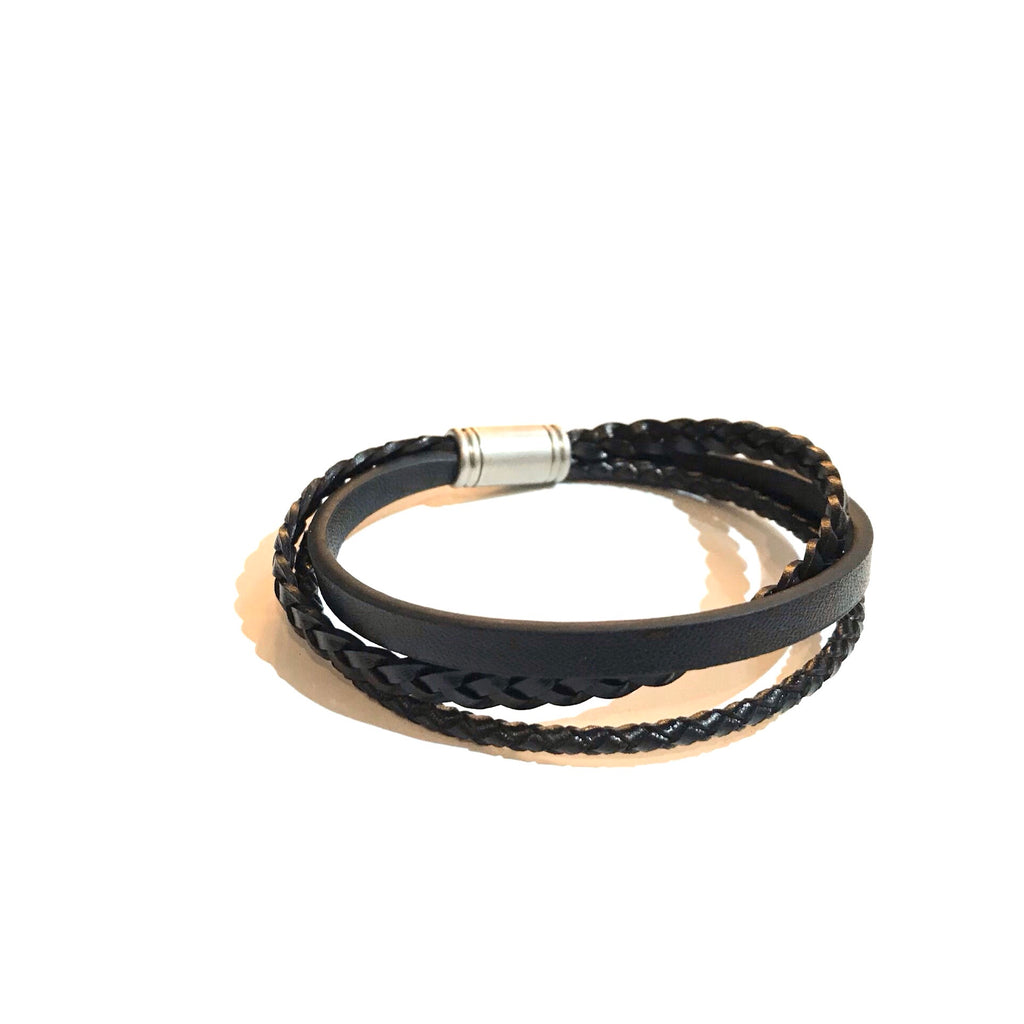 Kory Braided Leather Bracelet