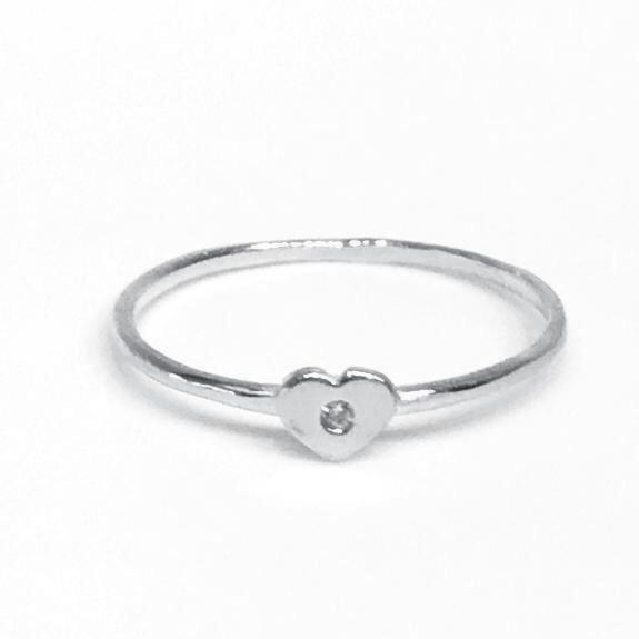 Amore Heart CZ Ring