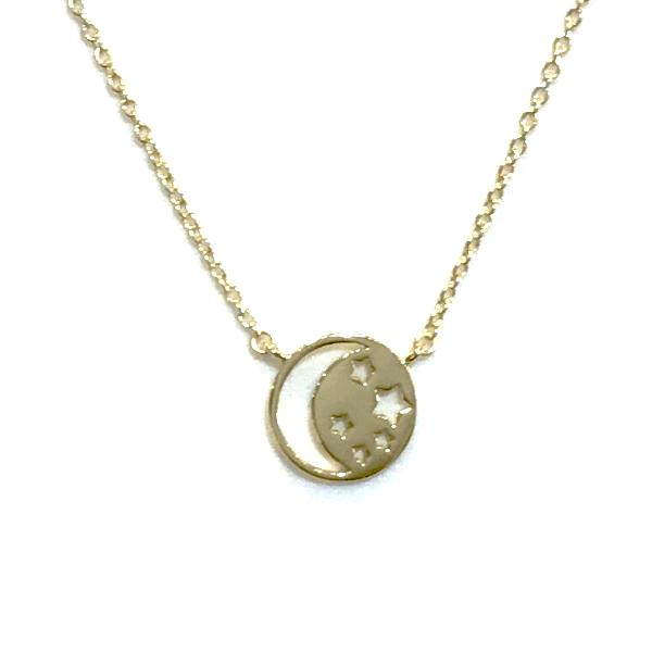 Starley Moon Round Necklace
