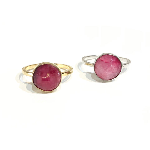 Felice Gemstone Ring Magenta