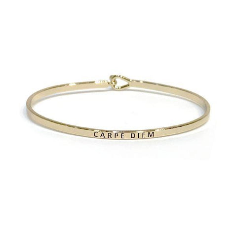 Mantra Bangle 'Carpe Diem'