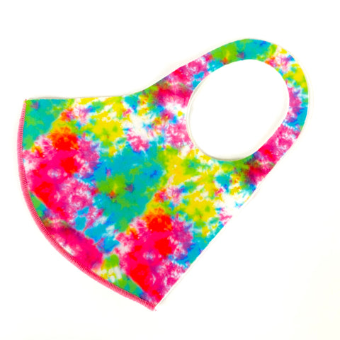 Noellery Strong Adult Unisex Tie Dye Neon Green Pink Yellow Reusable Face Mask