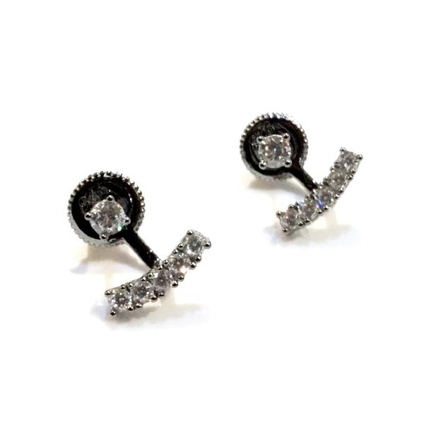 Jacklyn Mini Swing CZ Jacket Earrings