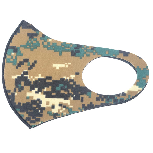 Noellery Strong Adult Unisex Camo Reusable Face Mask