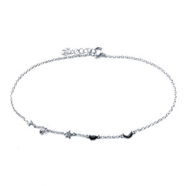 Cloud Star Moon Anklet