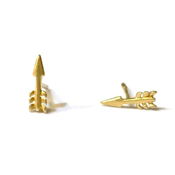 Erica Matted Arrow Studs