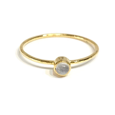 Felice Gemstone Moonstone Bezel Ring