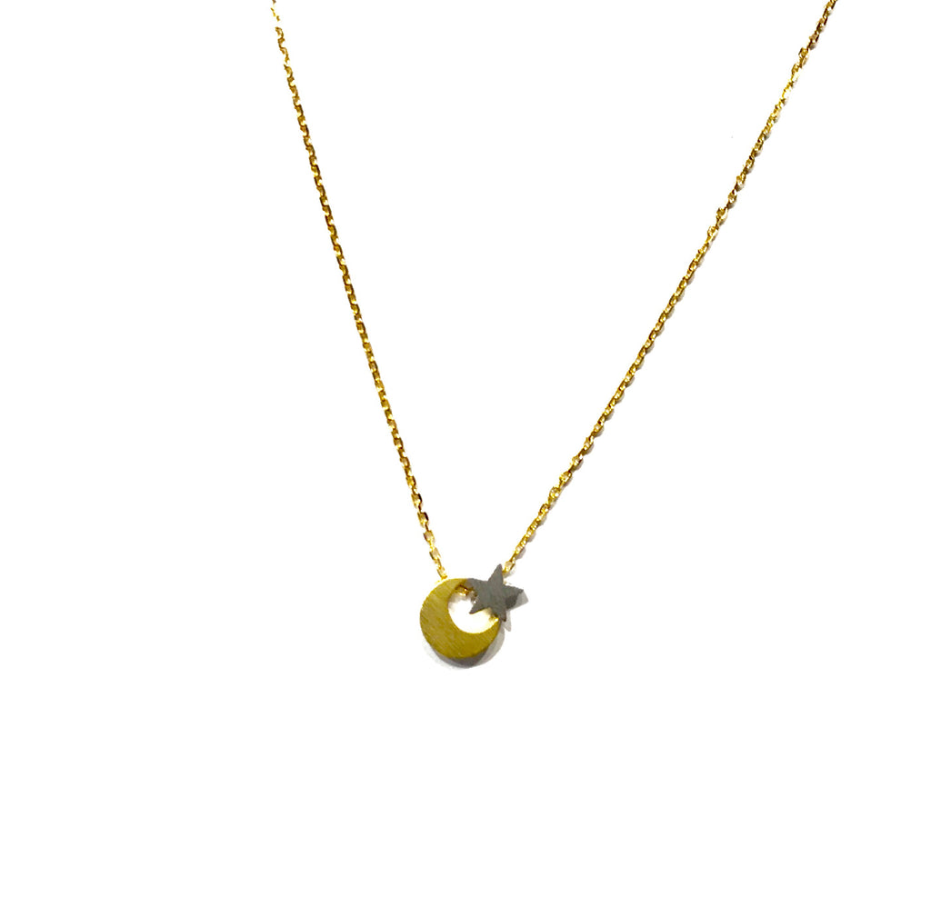 Starley Moon Brass Necklace