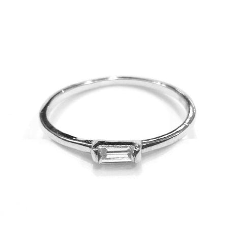 Noelly Rectangle Baguette CZ Ring