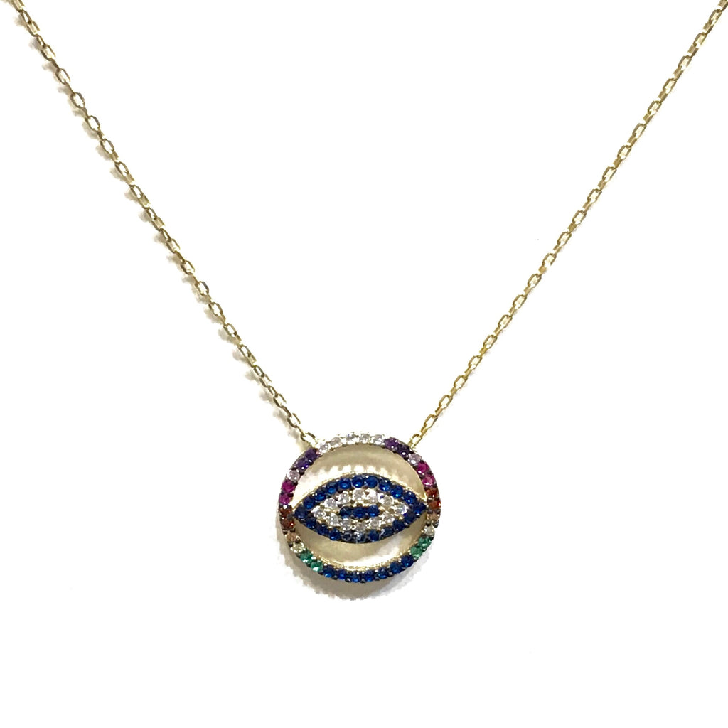 Multicolor Evil Eye Necklace