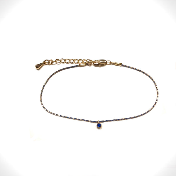 Cory CZ Color Chain Bracelet