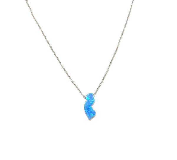 Opaline New Jersey Map Necklace