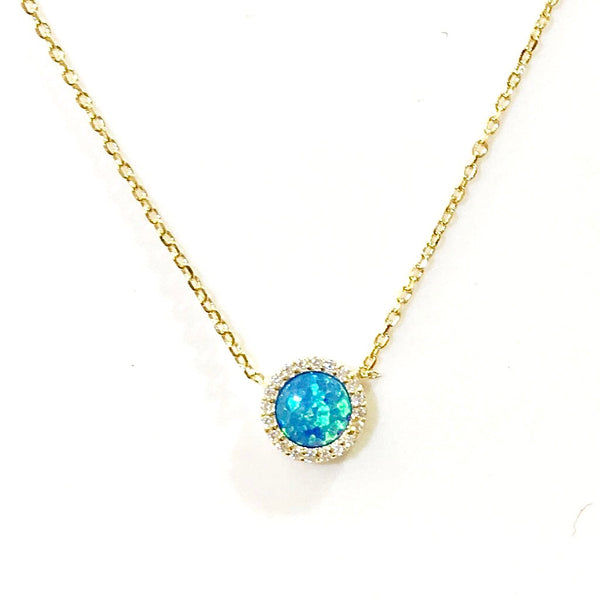 Opaline Halo Necklace