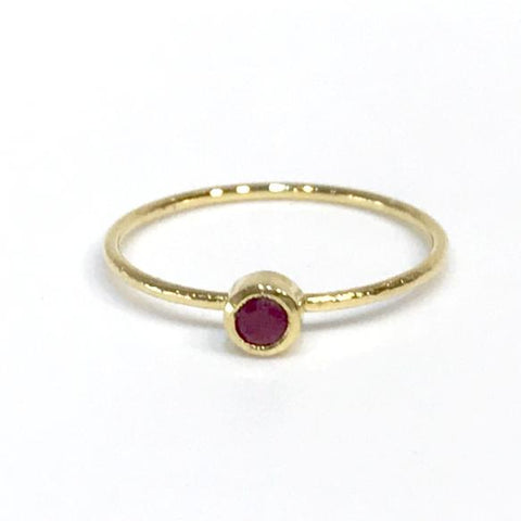 Felice Gemstone Ruby Bezel Ring