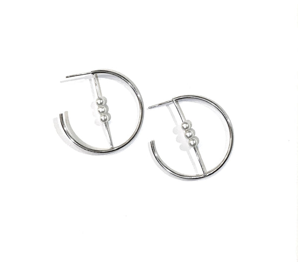 Pearlea Geometric Hoop Earrings