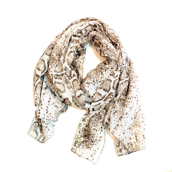 Sassy Snake Silver Spotted Scarf