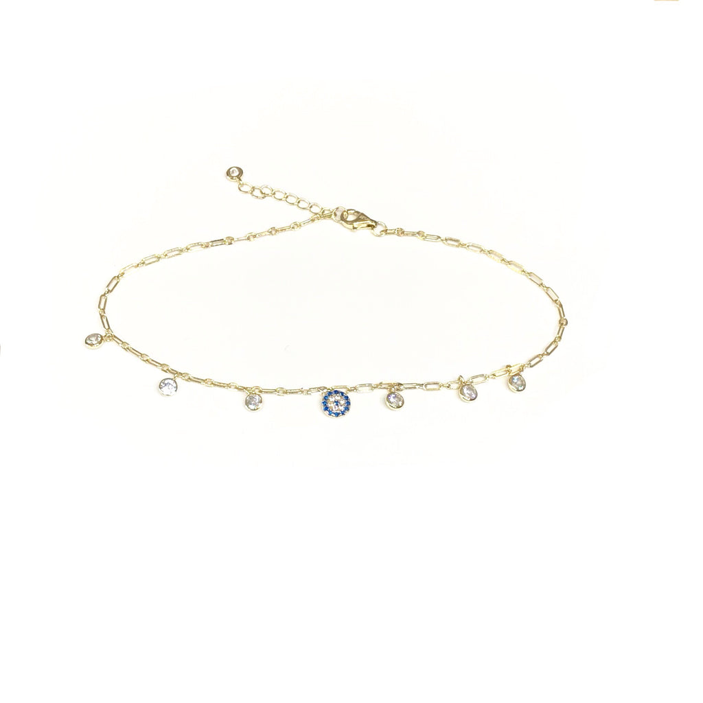 Evil Eye Sparkle Anklet