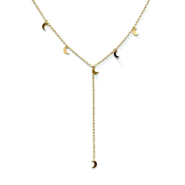 Moon Lariat Necklace