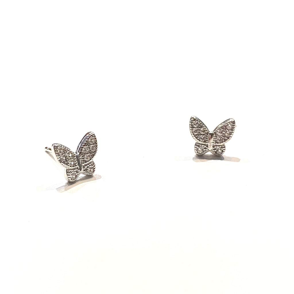 Sweet Pave Butterfly Earrings