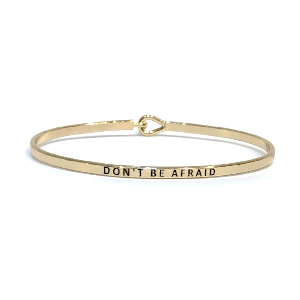 Mantra Bangle 'Don't Be Afraid'