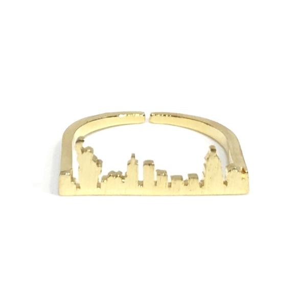 New York Skyline Brass Rings